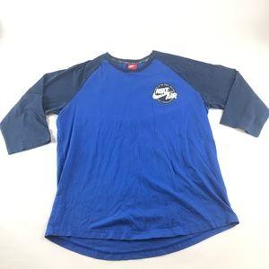 Nike Air Long Sleeve Blue T Shirt